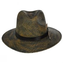 Vagabond Distressed Panama Straw Safari Fedora Hat alternate view 14