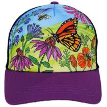 Kids' Butterfly and Bees Trucker Snapback Baseball Cap alternate view 2
