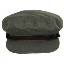 Braided Band Olive Green Cotton Fiddler Cap alternate view 2