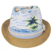 Toddlers' Tropical Crown Cotton Toyo Straw Blend Fedora Hat alternate view 2
