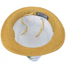 Toddlers' Tropical Crown Cotton Toyo Straw Blend Fedora Hat alternate view 4