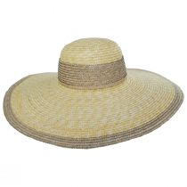 Two-Tone Wheat Straw Swinger Hat alternate view 2