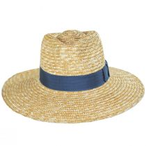 Joanna Tan/Blue Wheat Straw Fedora Hat alternate view 2