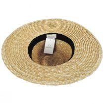 Joanna Tan/Blue Wheat Straw Fedora Hat alternate view 4