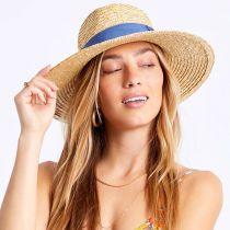 Joanna Tan/Blue Wheat Straw Fedora Hat alternate view 5