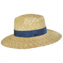 Joanna Tan/Blue Wheat Straw Fedora Hat alternate view 9