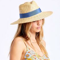 Joanna Tan/Blue Wheat Straw Fedora Hat alternate view 12