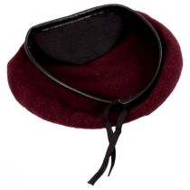 Wool Military Beret with Lambskin Band alternate view 17