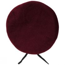 Wool Military Beret with Lambskin Band alternate view 40