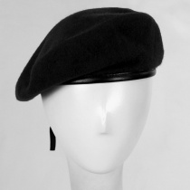 Wool Military Beret with Lambskin Band alternate view 80