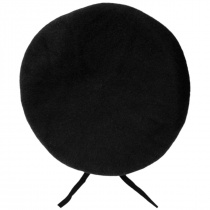 Wool Military Beret with Lambskin Band alternate view 158