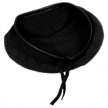 Wool Military Beret with Lambskin Band alternate view 159