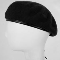 Wool Military Beret with Lambskin Band alternate view 234