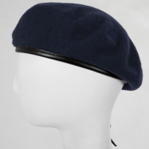 Wool Military Beret with Lambskin Band alternate view 76