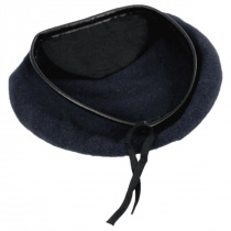 Wool Military Beret with Lambskin Band alternate view 225