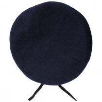 Wool Military Beret with Lambskin Band alternate view 128