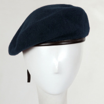 Wool Military Beret with Lambskin Band alternate view 195