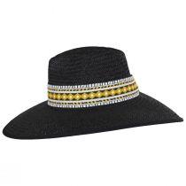 Jacquard Ribbon Toyo Straw Fedora Hat alternate view 3