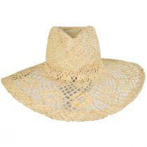 Floral Brim Raffia Straw Fedora Hat alternate view 2