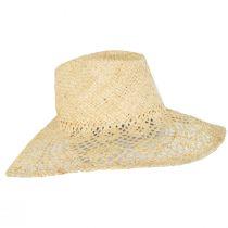 Floral Brim Raffia Straw Fedora Hat alternate view 3