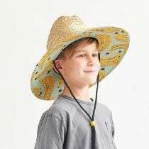Youth Peel Straw Lifeguard Hat alternate view 5