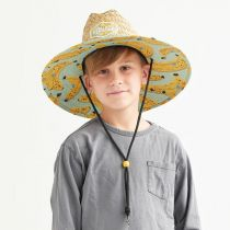 Youth Peel Straw Lifeguard Hat alternate view 6