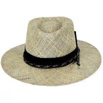 Verrett Seagrass Straw Fedora Hat alternate view 2