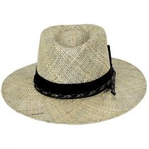 Verrett Seagrass Straw Fedora Hat alternate view 2