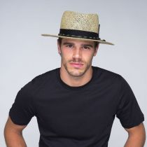 Verrett Seagrass Straw Fedora Hat alternate view 6