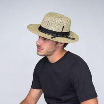 Verrett Seagrass Straw Fedora Hat alternate view 11
