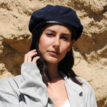 Wool Military Beret with Lambskin Band alternate view 73