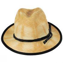 Clafin Tie Dye Panama Straw Fedora Hat alternate view 2