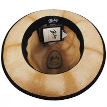 Clafin Tie Dye Panama Straw Fedora Hat alternate view 4