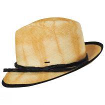 Clafin Tie Dye Panama Straw Fedora Hat alternate view 9