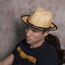 Clafin Tie Dye Panama Straw Fedora Hat alternate view 11