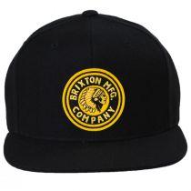 Rival Black/Gold Wool Blend Snapback Baseball Cap alternate view 2