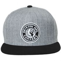 Rival Gray/Black Wool Blend Snapback Baseball Cap alternate view 2