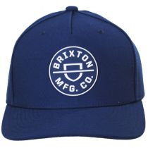 Crest Blue 5-Panel Snapback Baseball Cap alternate view 2