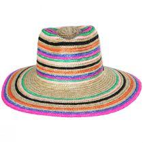 Joanna Striped Wheat Straw Fedora Hat alternate view 2