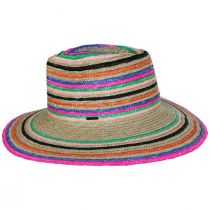 Joanna Striped Wheat Straw Fedora Hat alternate view 3