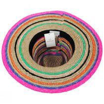 Joanna Striped Wheat Straw Fedora Hat alternate view 4