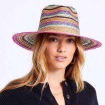 Joanna Striped Wheat Straw Fedora Hat alternate view 5