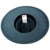 Joanna II Pine Green Wool Felt Fedora Hat alternate view 9