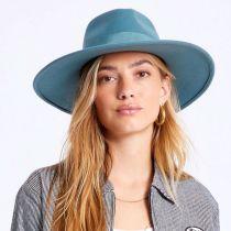 Joanna II Pine Green Wool Felt Fedora Hat alternate view 10