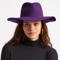 Maya Purple Wool Felt Fedora Hat alternate view 10