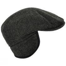 Donegal Olive Green Shetland Earflap Wool Ivy Cap alternate view 9