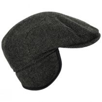Donegal Olive Green Shetland Earflap Wool Ivy Cap alternate view 34