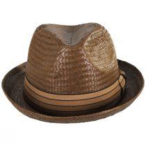 Castor Toffee Toyo Straw Fedora Hat alternate view 2