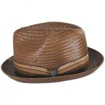 Castor Toffee Toyo Straw Fedora Hat alternate view 3