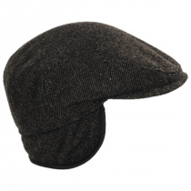 Donegal Brown Shetland Earflap Wool Ivy Cap alternate view 19